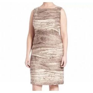 Lafayette 148 New York Sheat Dress Silk Wool New